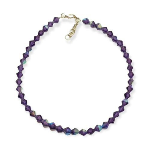 Pulsera Plata 925 - Cristales Swarovski - Violeta - Kl82-25d
